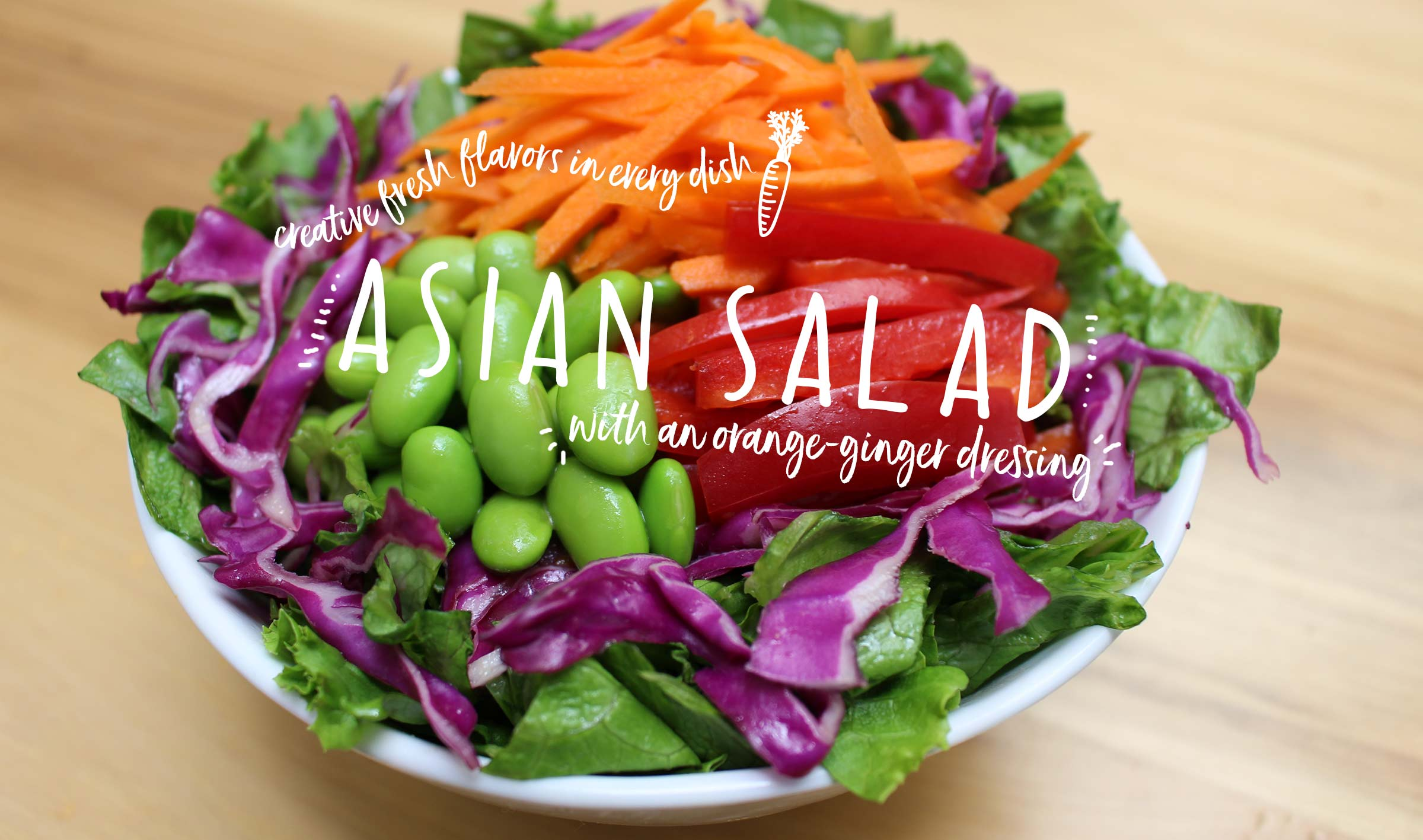 Asian Salad made with clean ingredients