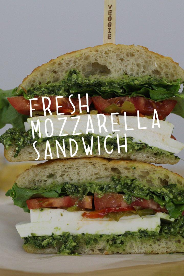 gourmet vegetarian sandwich