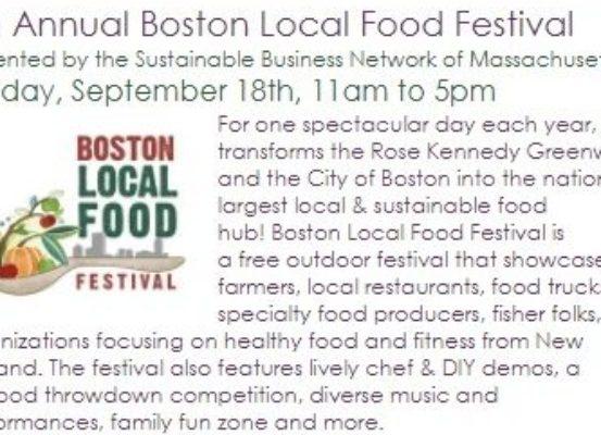 Boston local food festival 2016 newsletter